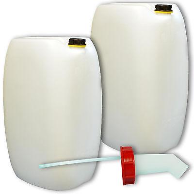 2er Set Plastikkanister Getränkebehälter 60 Liter natur 1 Griff Schnellausgießer