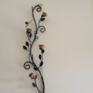 Steel wall plaque with steel flowers Cranbourne Casey Area Preview