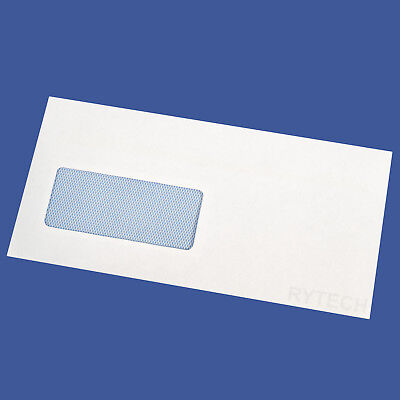 25 White DL Window Self Seal Envelopes 90GSM Postal Letter Mail Quality