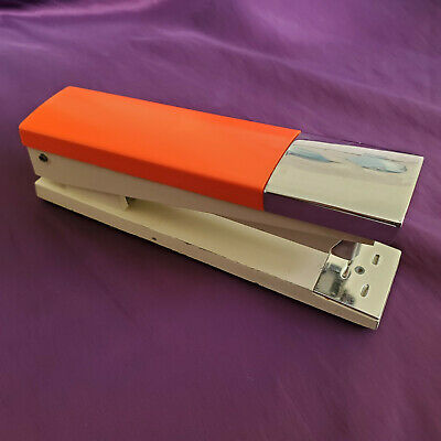 Acco 20 Vintage Orange With Chrome 1970s Desk Stapler Made In Usa Chicago