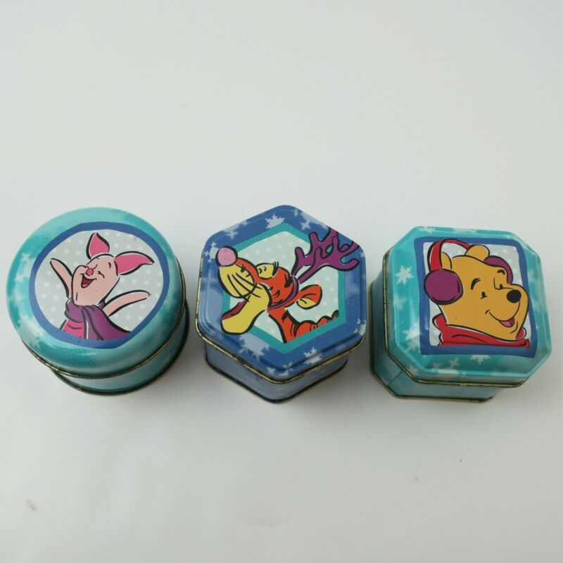 Disney Winnie the Pooh set of 3 candles in decorative tins VGC
