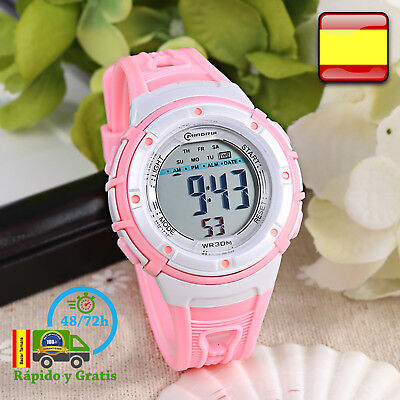 Reloj de Niña Digital Infantil Deportivo Rosa Relojes Multifunción Para  Niñas 69a21779b840