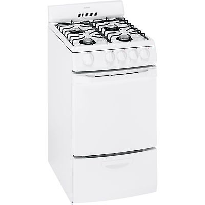 Hotpoint RGA720EKWH - 20inch Freestanding Gas Range - White- LOCAL PICK UP White Freestanding Gas Range