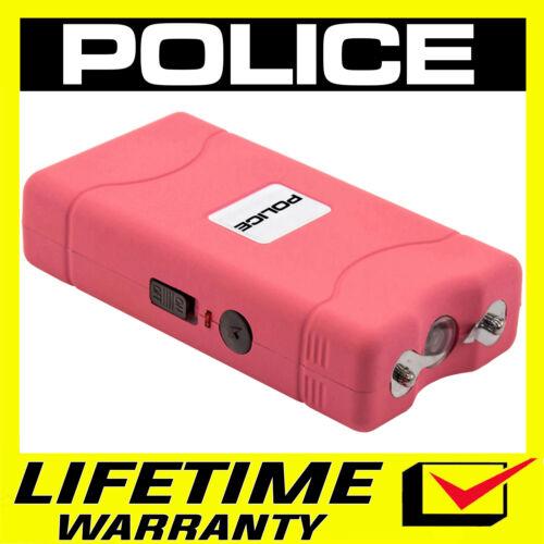 POLICE Stun Gun Pink Mini 800 380 BV Rechargeable LED Flashlight