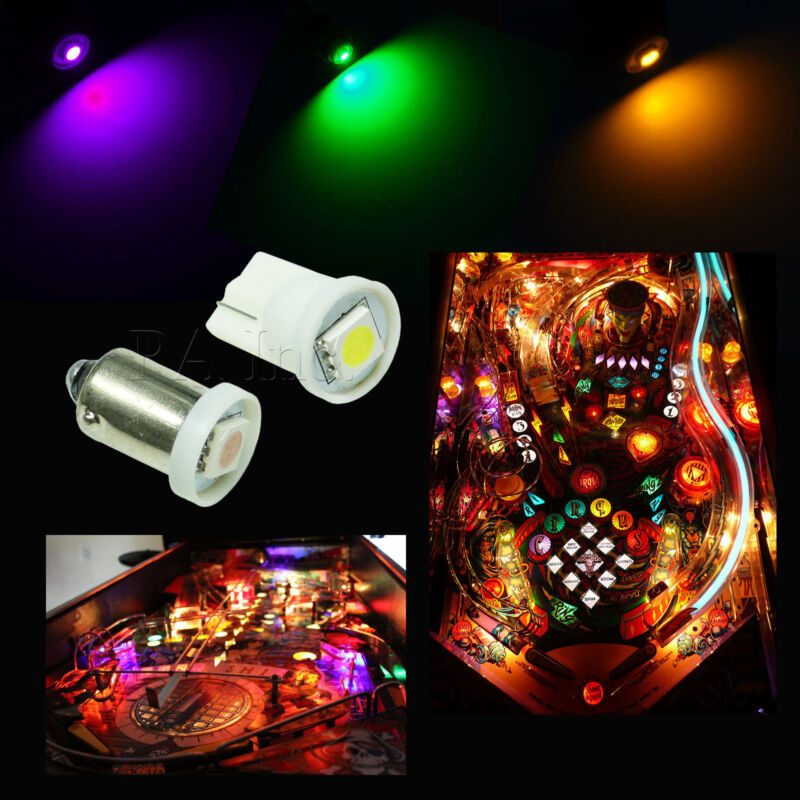 50x #1893 #44 #47 #1847 BA9S 4SMD LED Pinball Machine Light Bulb Purple 6.3VP3