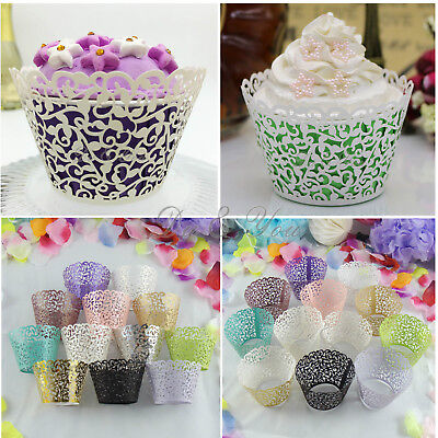 rförmchen Cupcake Wrapper Förmchen Kuchen Verpackung Deko neu (Muffin-wrapper)