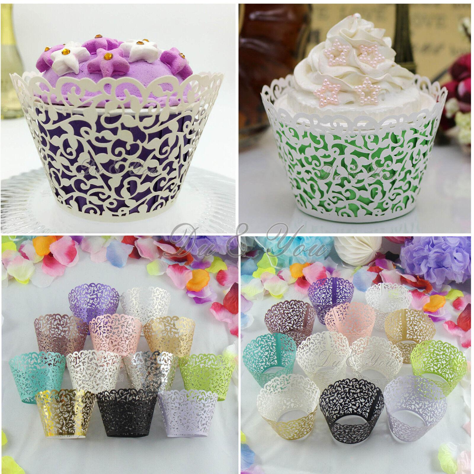 Muffin Hüllen Papierförmchen Cupcake Wrapper Förmchen Kuchen Verpackung Deko neu
