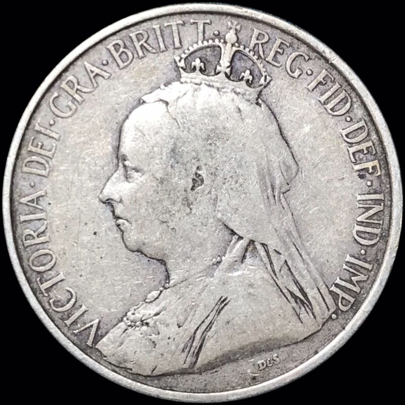 1901 Cyprus 18 Piastres KM #7 Foreign Silver Coin Scarce Low Mintage