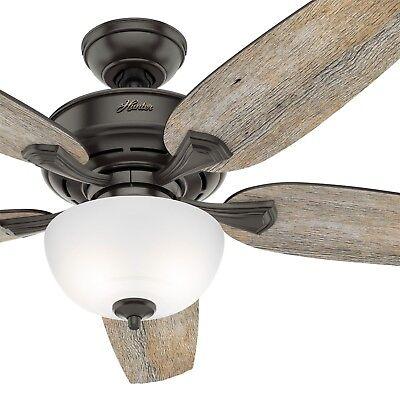 Hunter Fan 54 inch Casual Nobel Bronze Indoor Ceiling Fan with Light Kit (Nobel Metals)