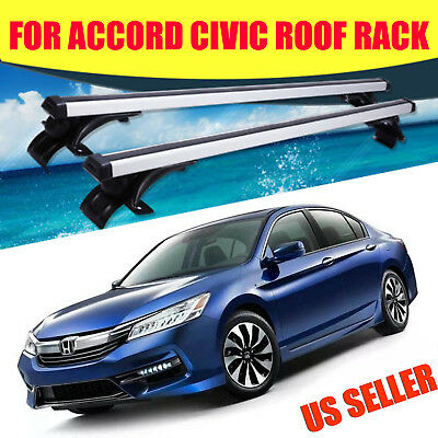 """For 2000-2015 Honda Accord Civic 48"""" Luggage Cross Bar Roof Rack w/3 Kind Clamps"""