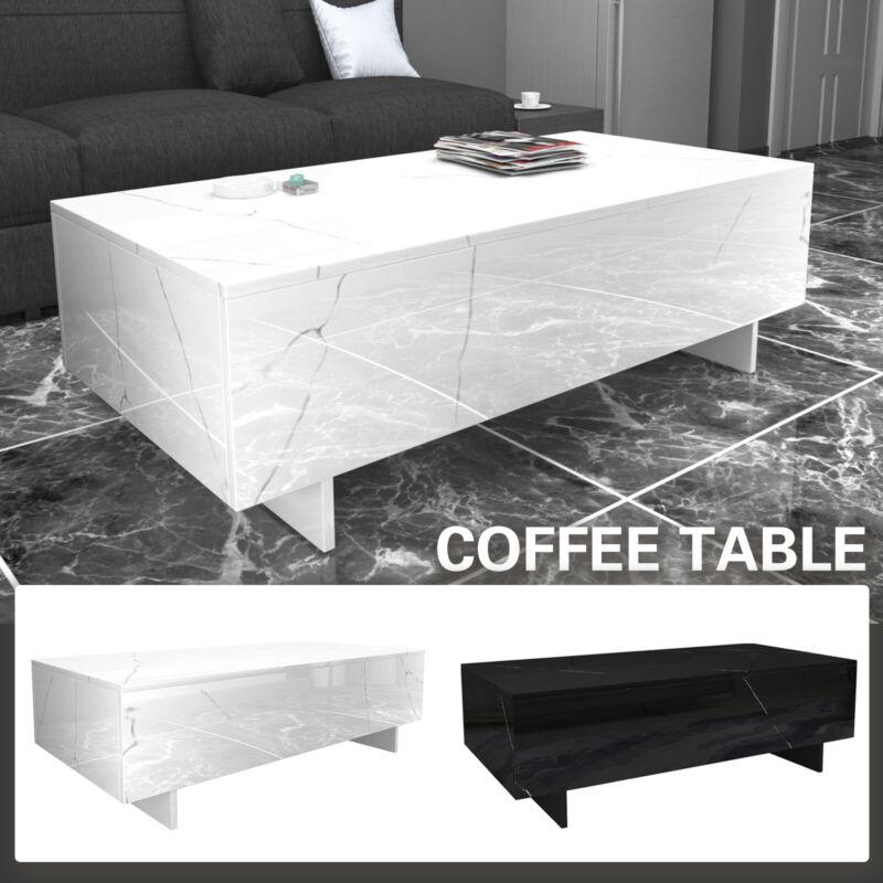 High Gloss Black/White Rectangle Coffee Table Living Room Home Furniture