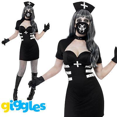 Zombie Nurse Outfit Halloween (Zombie Nurse Delirium Costume Halloween Scary Womens Ladies Fancy Dress)