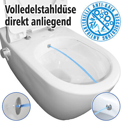 Dusch WC TEMTASI Mineral Armatur Bidet spülrandlos Taharet antibakteriell 11