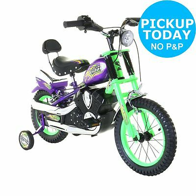 Spike Easy Rider Chopper Kids Bike 14 Inch Wheel 7 Inch Frame Rigid Suspension