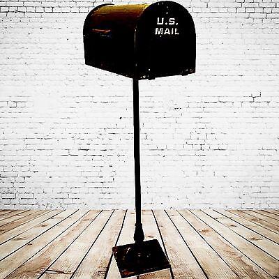Briefkasten US Mail Stand Modell freistehend dunkel Vintage für Garten Haus Tor