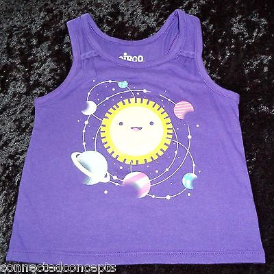 Planets Around The Sun Infant/Toddler Summer Tank T-Shirt (SIZES 12 Months - 2T)