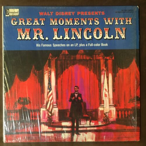 WALT DISNEY - GREAT MOMENTS WITH MR LINCOLN - 1964 Disneyland LP - NM IN SHRINK