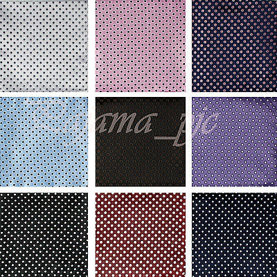 "NEW Men's Fancy Handkerchief Polka Dots Pocket Square hanky Formal Prom 12"" x 12"