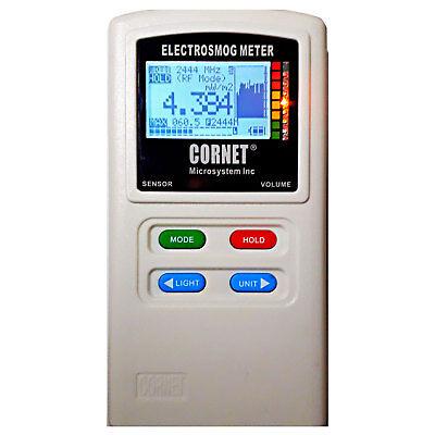 Cornet Ed88t Plus Tri-mode Rf Lf Emf E-field Electrosmog Gauss Meter Data Logger