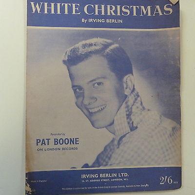 song sheet WHITE CHRISTMAS, Pat Boone, 1962 ()