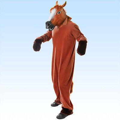 llkostüm inkl. Kopf Pferdekostüm Tierkostüm Fasching Karneval (Voll Pferd Kostüm)