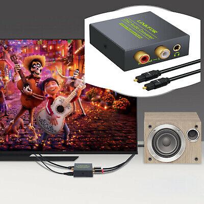 Toslink óptico Digital a Convertidor de Audio Analógico Jack 3.5 mm Cable...
