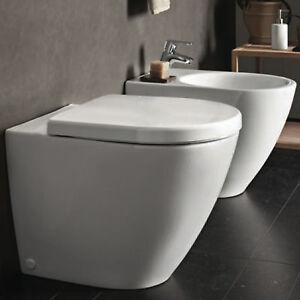 Sanitari filo parete pozzi ginori vaso rimfree con copri water softclose e bidet ebay - Sanitari filo parete prezzi ...