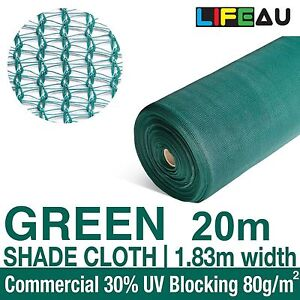 30% GREEN 1.83 x 20m Shadecloth Shade Cloth 1.83m wide Greenhouse Scaffold Mesh