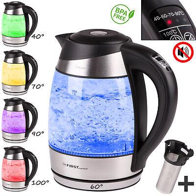 1,8L Glaswasserkocher, Temperaturwahl, Teesieb, Wasserkocher, Warmhaltefunktion Wasserkocher