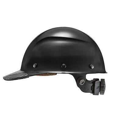 New Lift Safety Hdfc-17kg Dax Cap Style Black Hard Hat W Ratchet Suspension