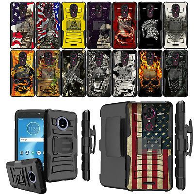 - For [ T-Mobile REVVL Plus  ] Heavy Duty Holster Case Clip Cool Design Cover