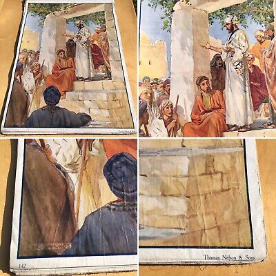 Poster Sunday School Biblical theme antique 27
