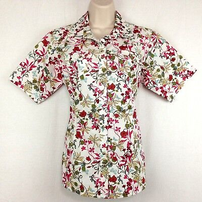 Ariat ' Womens Short (Ariat Western Shirt Womens M Short Sleeve Red Green White Floral Pearl Snap)