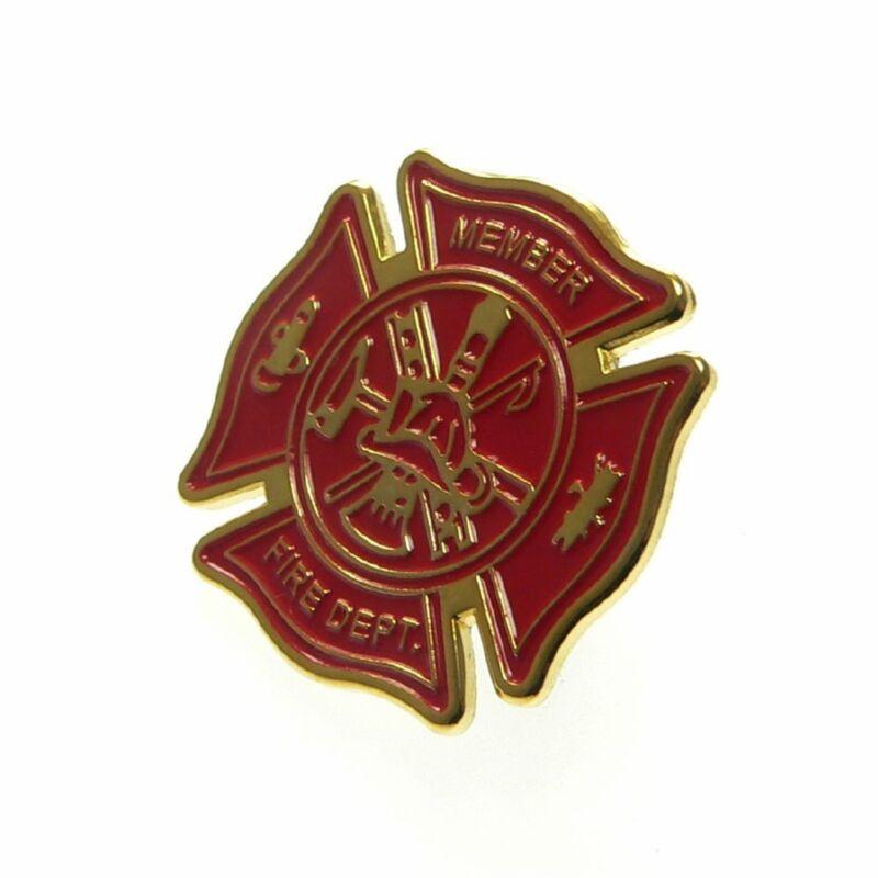 Fireman Firefighters Maltese Cross Fire Department Emergency Rescue Lapel Pin