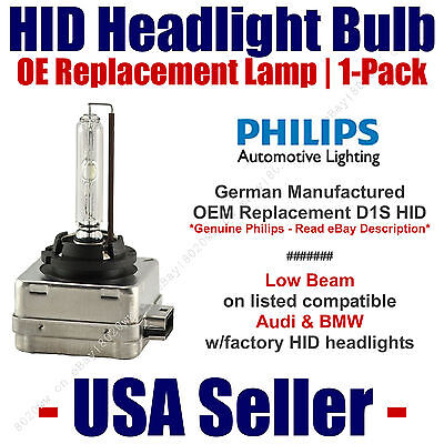 OE HID Headlight Low Beam GENUINE German PHILIPS - fits Select Audi & BMW - D1S