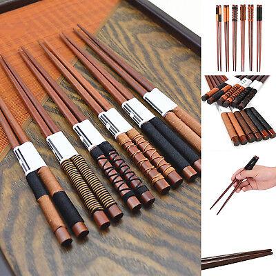 6Pair/set Handmade Wooden Chopsticks Classic Japanese Natural Chestnut Wood - Wooden Chopsticks