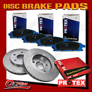 2 Rear Protex Disc Brake Rotors + Pads For Ford Territory 2WD & AWD 2004-on