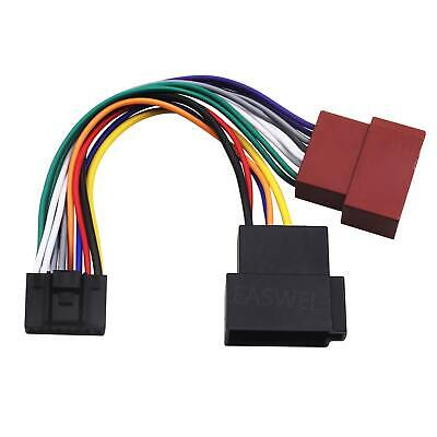 ISO Wiring Harness Connector Adaptor Lead Loom Cable for Kenwood KDC KRC JVC KD