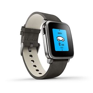 Pebble Time steel. Montre intelligent