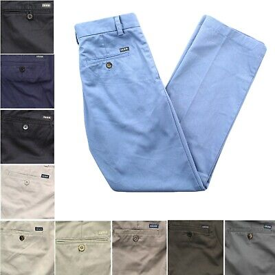 Khaki Flat Front Chino - IZOD Men's Straight Fit Flat Front 4 Pocket Wrinkle Resistant Chino Khaki Pants