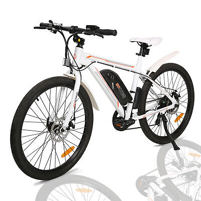 f079b6142e4 36V 350W White Electric City Bicycle e-Bike Removable Battery 7 Speed  Litium ION