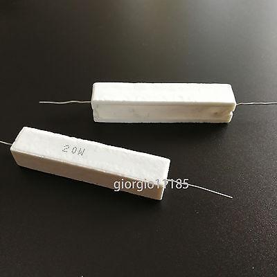 20W 500R Uxcell a11111600ux0045 20W 500 Ohm Wirewound Cement Resistor 2 Piece