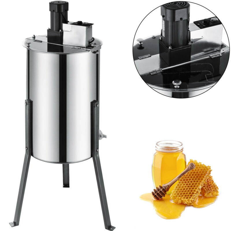 Electric 2/4 Frame Bee Honey Extractor Stainless Steel SS Honeycomb Beekeeping