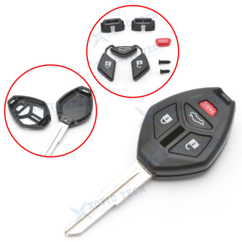 For Mitsubishi Galant Eclipse Lancer EVO 4 Buttons Remote Key Shell Fob