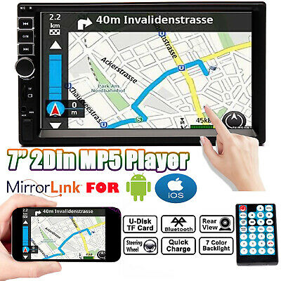 7inch 2 DIN HD Car MP5 Player Stereo FM Head Unit USB MirrorLink for GPS Android