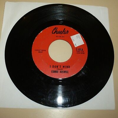 NORTHERN SOUL 45 RPM RECORD - CONNIE BOSWELL - CHARLES 101