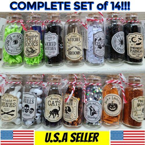 Target Bullseye Mini Halloween Potion Bottles COMPLETE SET of 14
