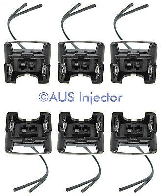 Set of 6 Fuel Injector Pigtails fit Bosch EV1 Jetronic FORD GM DODGE [EV1F-6]