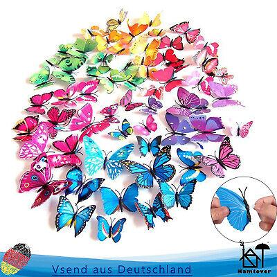 Wandtattoo Wanddeko 3D Schmetterling Sticker Dekoration DE (Schmetterlinge Dekorationen)