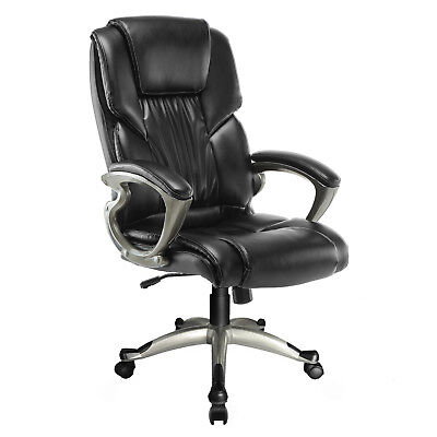 Modern Executive Ergonomic High Back Armchair Footrest Office Computer Chair